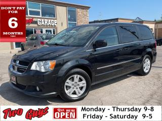 Used 2017 Dodge Grand Caravan Crew Plus | Leather | Pwr Sliders + Hatch | B/Up C for sale in St Catharines, ON