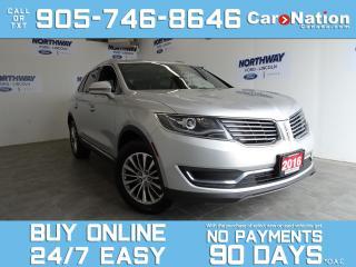 Used 2016 Lincoln MKX SELECT PLUS PKG | AWD | LEATHER | NAV |CLIMATE PKG for sale in Brantford, ON