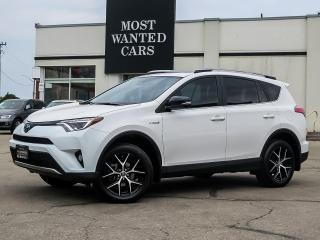 Used 2018 Toyota RAV4 Hybrid AWD|HYBRID|SE|NAV|LEATHER|XENONS|SUNROOF|ALLOYS for sale in Kitchener, ON