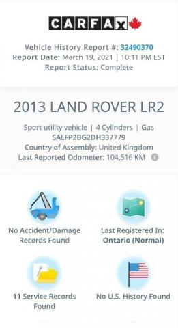 2013 Land Rover LR2 SE Panoramic Sunroof/Leather Photo18