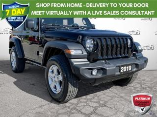 Used 2019 Jeep Wrangler Sport 4WD Cloth/Alloy Wheels/Freedom Top for sale in St Thomas, ON
