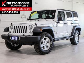 Used 2018 Jeep Wrangler JK Unlimited Sport UNLIMITED SPORT | 4X4 | ONE OWNER | for sale in Kingston, ON