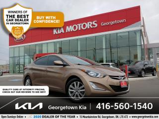Used 2016 Hyundai Elantra SPORT | BU CAM | SUNROOF | HTD SEATS | B/T | 75 K for sale in Georgetown, ON