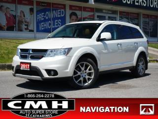 Used 2017 Dodge Journey GT  NAV CAM DVD ROOF LEATH HTD-S/W 19-AL for sale in St. Catharines, ON