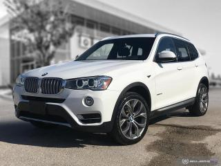 Used 2017 BMW X3 xDrive28i Accident Free! 3 New Tires! Enhanced! for sale in Winnipeg, MB