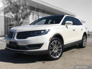 Used 2016 Lincoln MKX Reserve New Front Brakes! White on Brown Leather! for sale in Winnipeg, MB