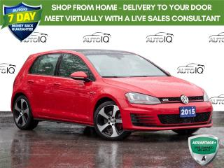 Used 2015 Volkswagen Golf GTI 5-Door Autobahn Leather   |   Navigation   |   Sunroof   |   Clean Car Fax Report! for sale in St Catharines, ON