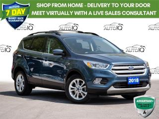 Used 2018 Ford Escape SEL Leather Trimmed Seats   |   Clean Car Fax Report for sale in St Catharines, ON