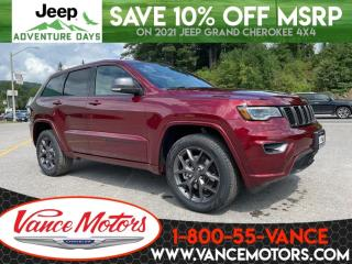 New 2021 Jeep Grand Cherokee 80th Anniversary Edition 4X4...V6*COOLED SEATS! for sale in Bancroft, ON