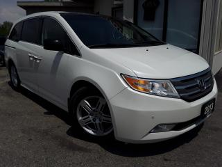 Used 2013 Honda Odyssey Touring - LEATHER! NAV! BACK-UP CAM! BSM! DVD! 8 PASS! for sale in Kitchener, ON