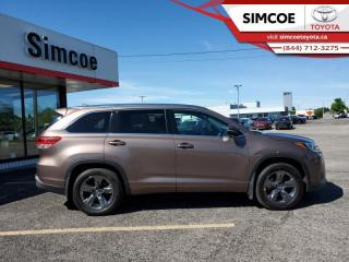Used 2017 Toyota Highlander Limited  - Navigation -  Sunroof for sale in Simcoe, ON