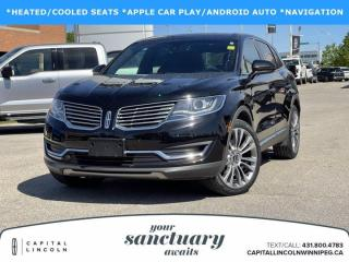 Used 2017 Lincoln MKX RESERVE AWD for sale in Winnipeg, MB