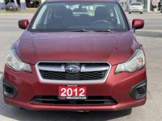 Used 2012 Subaru Impreza 5dr HB CVT 2.0i w/Touring Pkg /6 MONTHS WARRANTY INCULDED for sale in Brampton, ON