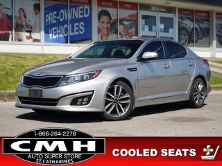 Used 2014 Kia Optima SX  NAV CAM BLIND-SPOT LEATH HTD-SEATS 18-AL for sale in St. Catharines, ON