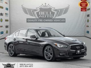 Used 2017 Infiniti Q50 3.0t, AWD, NAVI, 360CAM, SUNROOF, SENSORS, NO ACCIDENT for sale in Toronto, ON
