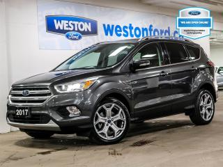 Used 2017 Ford Escape Titanium+CAMERA+MOONROOF+NAVIGATION+REMOTE START for sale in Toronto, ON