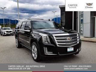Used 2017 Cadillac Escalade ESV Platinum NAVIGATION - MOONROOF - ENTERTAINMENT PKG for sale in North Vancouver, BC