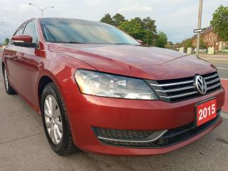 Used 2015 Volkswagen Passat EXTRA CLEAN-4CYL-BLUETOOTH-AUX-ALLOYS-CLEAN REPORT for sale in Scarborough, ON