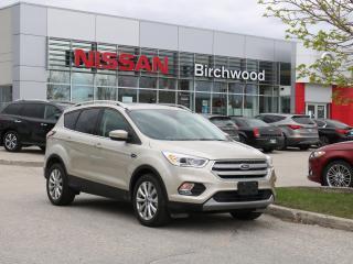 Used 2018 Ford Escape Titanium Apple CarPlay, Navigation, Heated steering wheel, Panoramic sunroof for sale in Winnipeg, MB