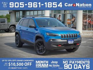 Used 2019 Jeep Cherokee Trailhawk 4x4  PANO ROOF  NAVI  LOCAL TRADE  for sale in Burlington, ON