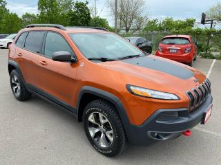 Used 2015 Jeep Cherokee TRAILHAWK**  V6, NAV, BACK CAM, AUTOSTART  ** for sale in St Catharines, ON