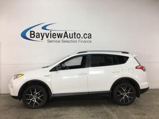 Used 2017 Toyota RAV4 Hybrid SE - HTD LEATHER! NAV! SUNROOF! for sale in Belleville, ON