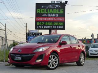 Used 2010 Mazda MAZDA3 GT,SUNROOF,HEATED SEATS,CERTIFIED,LOADED,ALLOY RIM for sale in Mississauga, ON