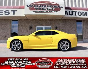 Used 2010 Chevrolet Camaro 2SS/RS 6.2L LS3 6 SPEED, LOADED, LOTS OF $$ SPENT! for sale in Headingley, MB