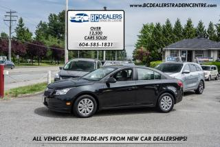 Used 2011 Chevrolet Cruze LT Turbo Sedan w/1SA, Auto, Black, Affordable and Clean! for sale in Surrey, BC