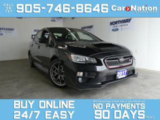 Used 2017 Subaru WRX STI SPORT-TECH | AWD |LEATHER | ROOF | NAV | 305HP for sale in Brantford, ON