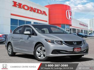 Used 2015 Honda Civic LX BLUETOOTH | REARVIEW CAMERA | ECON MODE for sale in Cambridge, ON