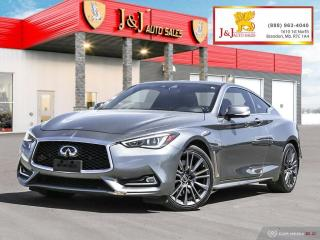 Used 2017 Infiniti Q60 3.0t Red Sport 400 Red Sport 400,2Dr.,AWD,Fully Fully Loaded for sale in Brandon, MB