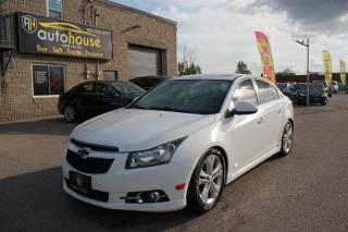 Used 2013 Chevrolet Cruze MANUAL/LEATHER INTERIOR/SUNROOF/BACKUP CAMERA/PREMUIM SOUND for sale in Newmarket, ON