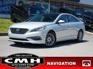 Used 2015 Hyundai Sonata Limited  NAV CAM ROOF HTD-S/W 17-AL for sale in St. Catharines, ON