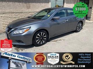 Used 2018 Nissan Altima SV* Reverse Camera/Sunroof/Heated Seats/BLUETOOTH for sale in Winnipeg, MB