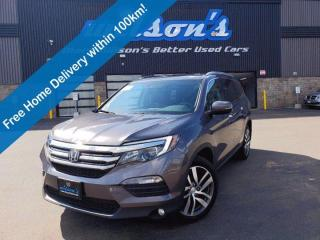 Used 2017 Honda Pilot AWD, Navigation, DVD, Sunroof, Leather, Heated + Cooled Seats, Power Liftgate and More! for sale in Guelph, ON