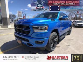 New 2021 RAM 1500 Sport | 0% Financing | Forward Collision Warning | for sale in Winnipeg, MB