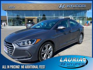 Used 2017 Hyundai Elantra GLS Auto - ULTRA LOW KMS for sale in Port Hope, ON