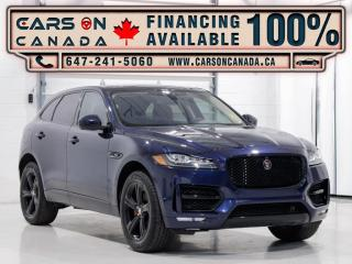 Used 2018 Jaguar F-PACE 25t R-Sport, Navi, Pano, Red Leather Int for sale in Vaughan, ON