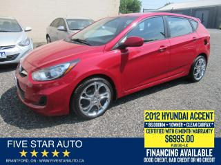 Used 2012 Hyundai Accent GL *Clean Carfax* Certified w/ 6 Month Warranty for sale in Brantford, ON