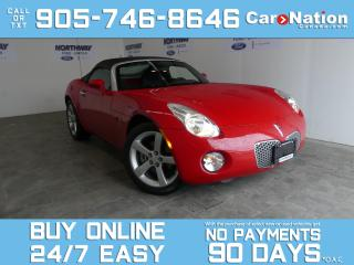 Used 2007 Pontiac Solstice CONVERTIBLE | 5 SPEED M/T | RARE |WOW ONLY 33 KM! for sale in Brantford, ON