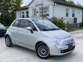 Used 2012 Fiat 500 No-Accidents LOW KMS Leather Sunroof Bluetooth BOSE AUDIO for sale in Sutton, ON