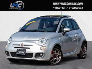 Used 2014 Fiat 500 SPORT-AUTOMATIC-SUNROOF-RED LEATHER-NO ACCIDENTS-99KMS for sale in Toronto, ON