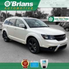 Used 2019 Dodge Journey Crossroad - Accident Free! w/Backup Cam, Leather, 3rd-row, DVD for sale in Saskatoon, SK