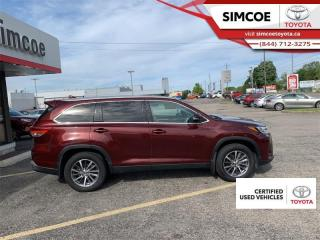 Used 2019 Toyota Highlander XLE AWD  - Certified - Navigation for sale in Simcoe, ON