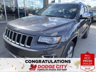 Used 2014 Jeep Grand Cherokee Overland-4WD,Remote Start, Vented Seats, Nav, Leather for sale in Saskatoon, SK