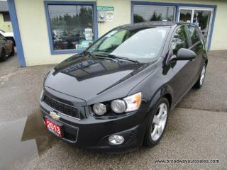 Used 2013 Chevrolet Sonic LOADED LTZ-HATCH EDITION 5 PASSENGER 1.4L - TURBO.. LEATHER.. HEATED SEATS.. POWER SUNROOF.. BLUETOOTH SYSTEM.. KEYLESS ENTRY.. for sale in Bradford, ON