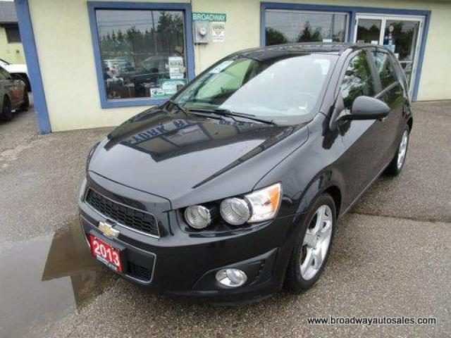 2013 Chevrolet Sonic LOADED LTZ-HATCH EDITION 5 PASSENGER 1.4L - TURBO.. LEATHER.. HEATED SEATS.. POWER SUNROOF.. BLUETOOTH SYSTEM.. KEYLESS ENTRY..