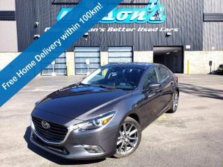 Used 2018 Mazda MAZDA3 GT - 6spd Manual, Sunroof, Leather, Heated Seats, BOSE Audio, Lane Departure and more! for sale in Guelph, ON