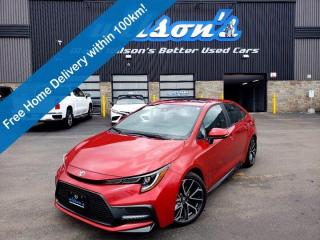 Used 2020 Toyota Corolla SE - Sunroof, Alloy Wheels, Blindspot Monitor, Wireless Charging, Heated Steering + Seats and More! for sale in Guelph, ON